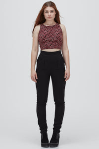 Chiquitita | Fitted Cropped Cami | Burgundy