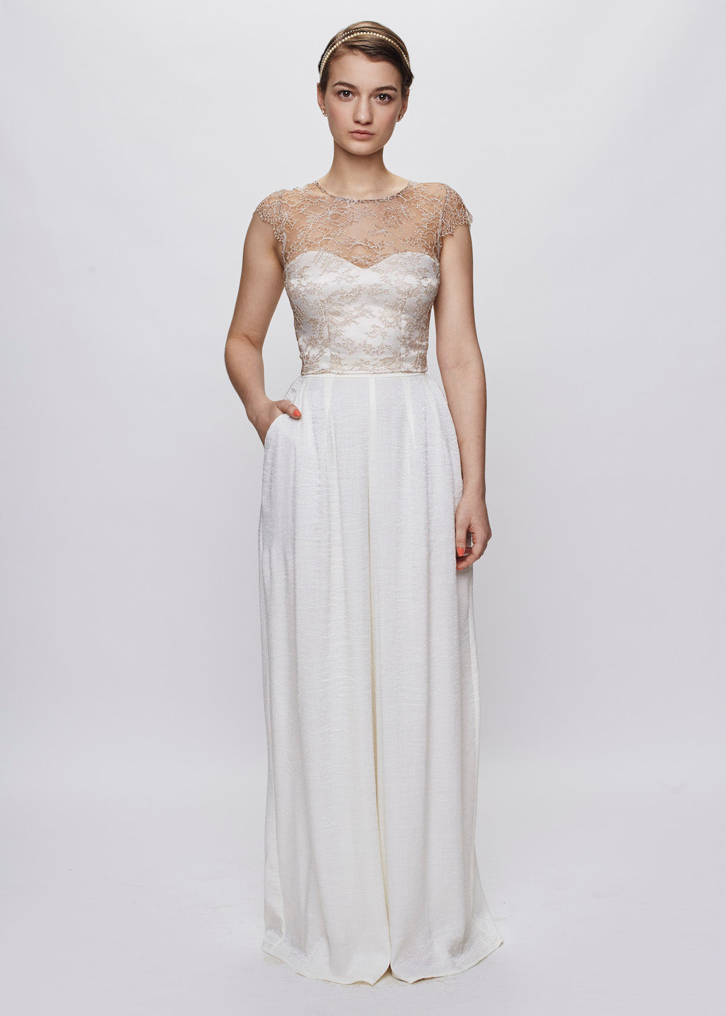 Jane B | Pleated Bridal Palazzo Pants