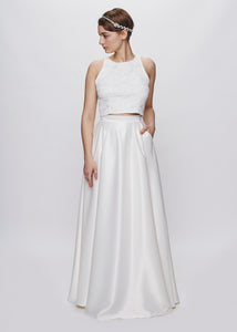Endless Harmony | Pleated Bridal Skirt with Pockets