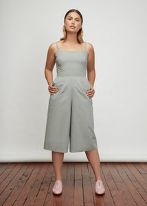 I am Woman | Cropped Wide-Legged Jumpsuit