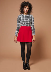 Riot | High-Waisted Mini Skirt | Red