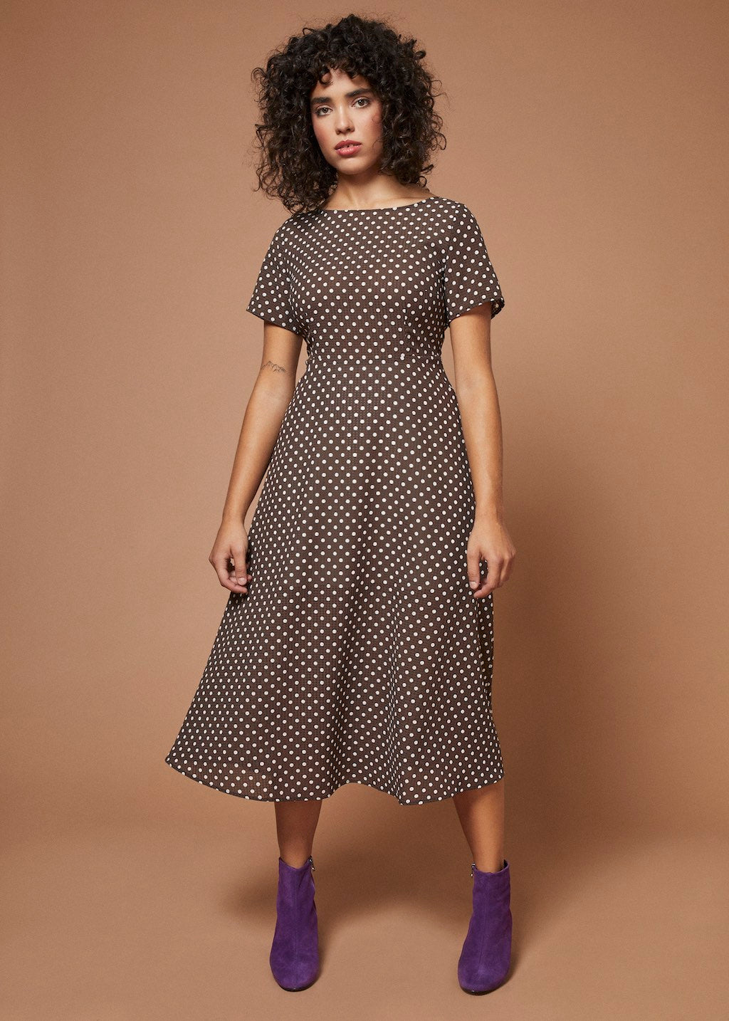 Django Jane | Midi Dress | Polka Dot