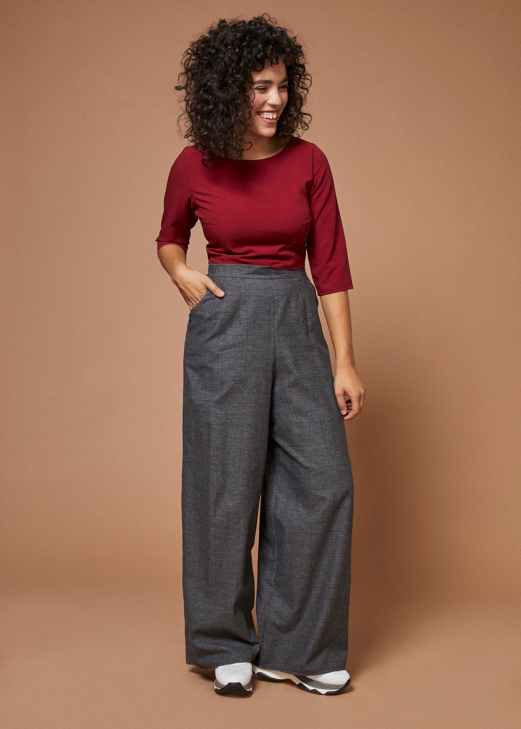 Rock Steady | Boatneck Crop Top | Burgundy