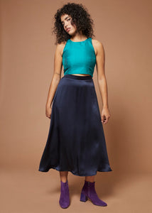 Chiquitita | Fitted Cropped Cami | Emerald