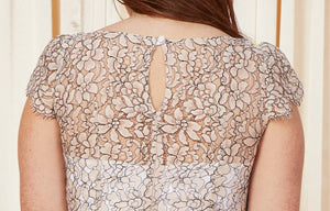 Roses | V-Neck Lace Bridal Top | Blush