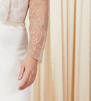 Si Doucement | Long Sleeved Bridal Top