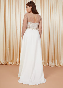 Clearwater | Flared Bridal Skirt with Train