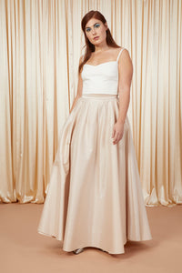 Mysteries of Love | A-Line Bridal Skirt | Champagne
