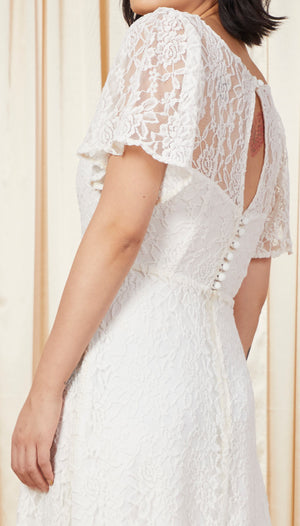 Lady Boho | Bell-Sleeved Lace Wedding Gown