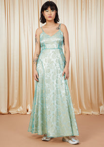 Underwater | Lace A-Line Gown | Teal