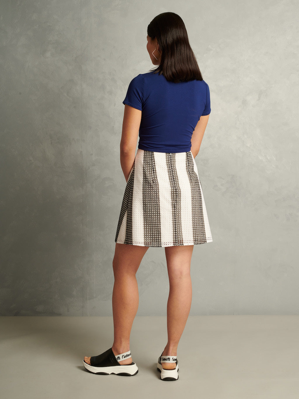 Riot | High-Waisted Mini Skirt | Striped