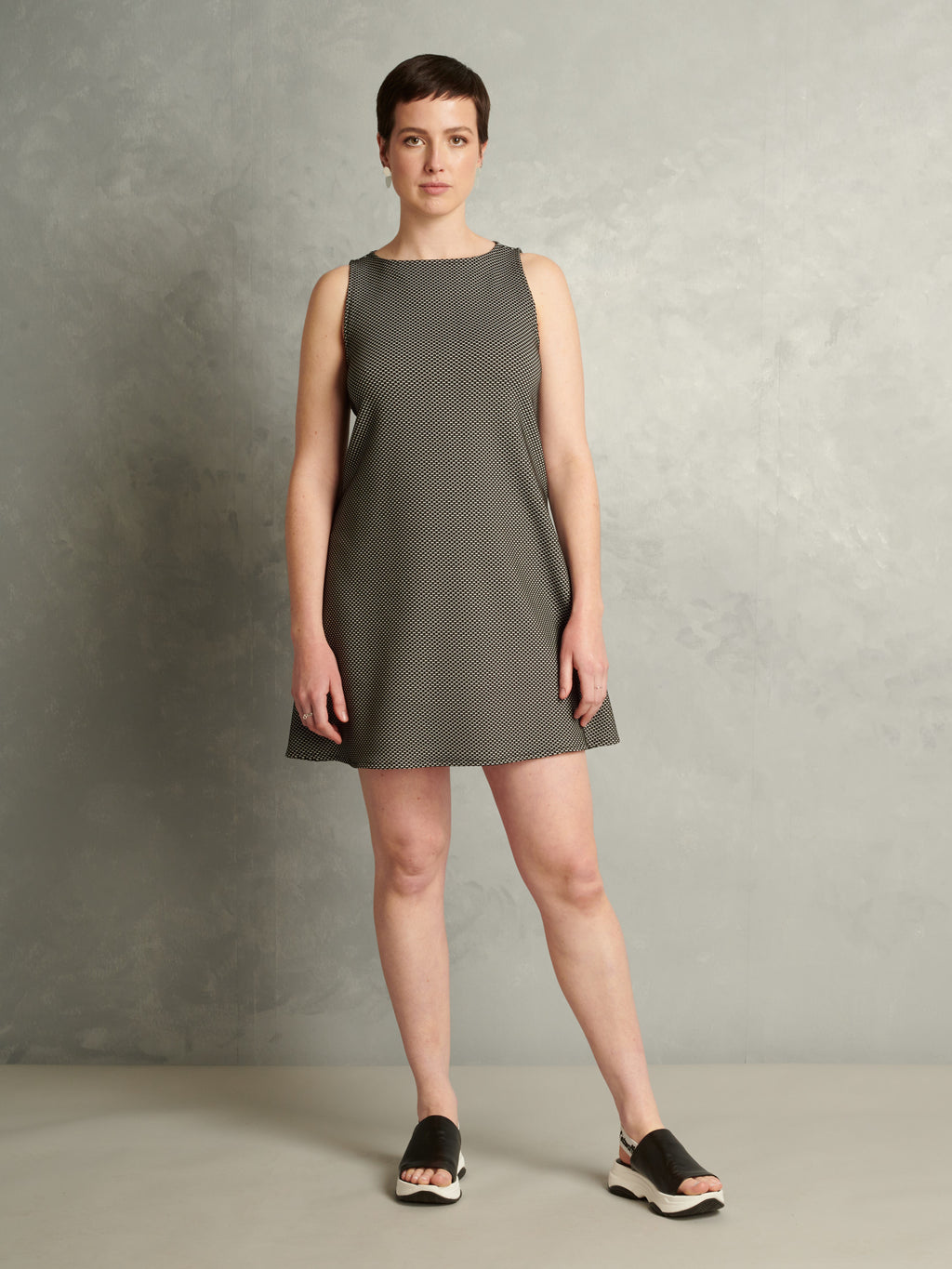 Electric Body | Mini Shift Dress | Grey