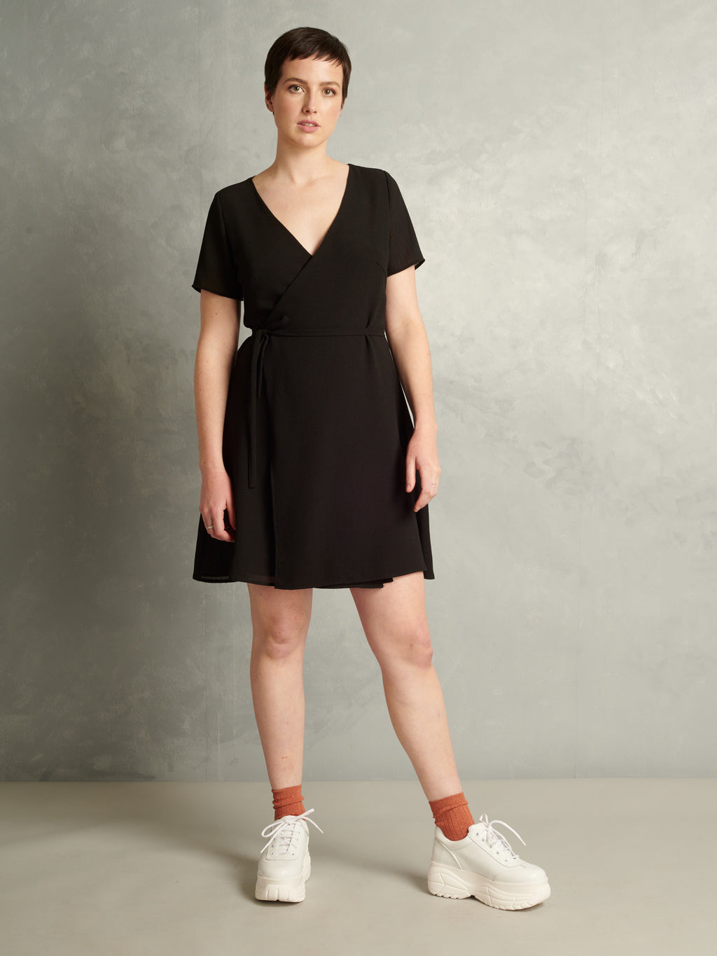Graceland | Crepe Wrap Dress | Black