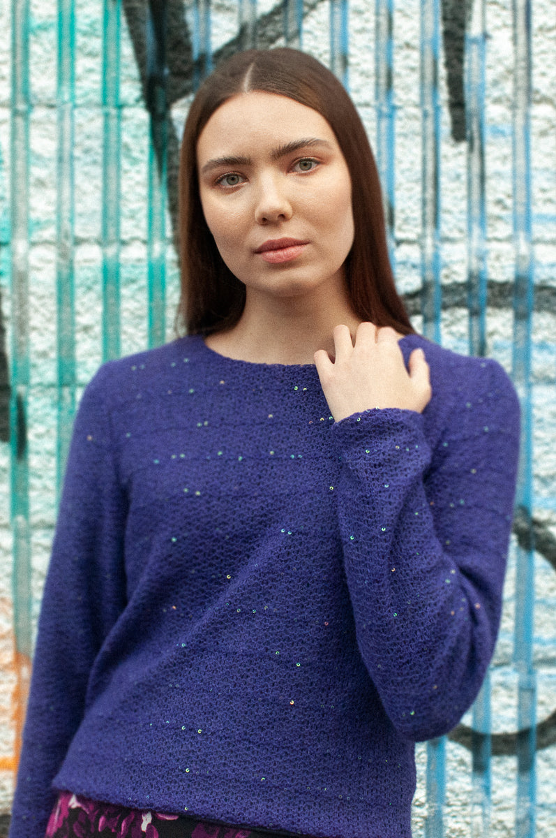 Oakwood | Cropped Sweater | Amethyst