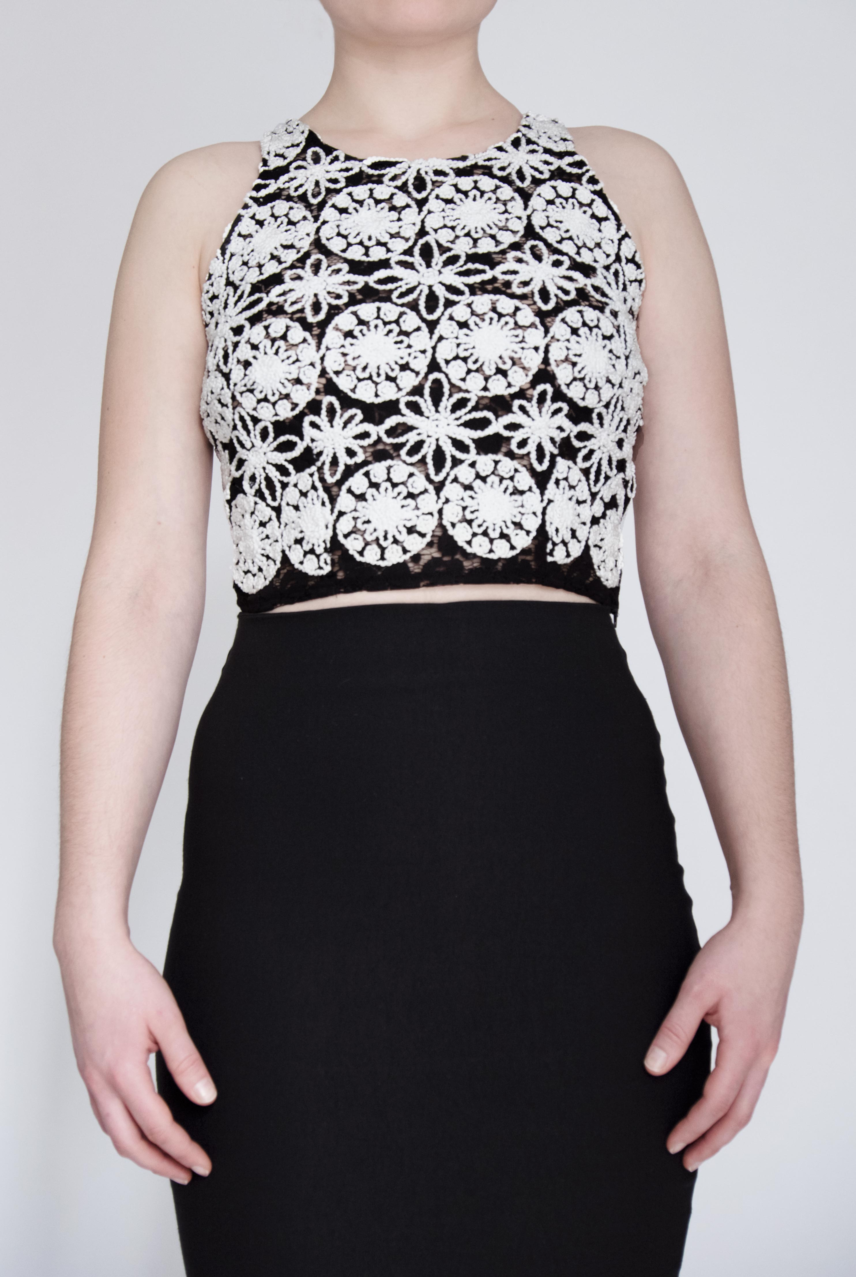 Chiquitita | Fitted Cropped Cami | Embroidered Lace