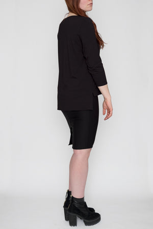 Lola | Boatneck T-Shirt | Black