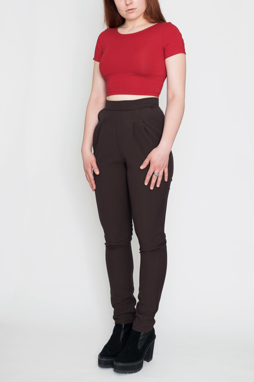 L.A. woman pants brown
