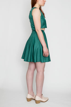 Little Mermaid | Cut-Out A-Line Dress | Teal