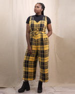 Cosmic Dancer | Cropped Wide-Leg Jumpsuit | Plaid