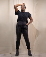 California Nights | Pleated Stretch Pants | Plaid