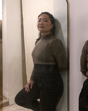 Rock Lobster | Fleece Turtleneck Top | Nutmeg