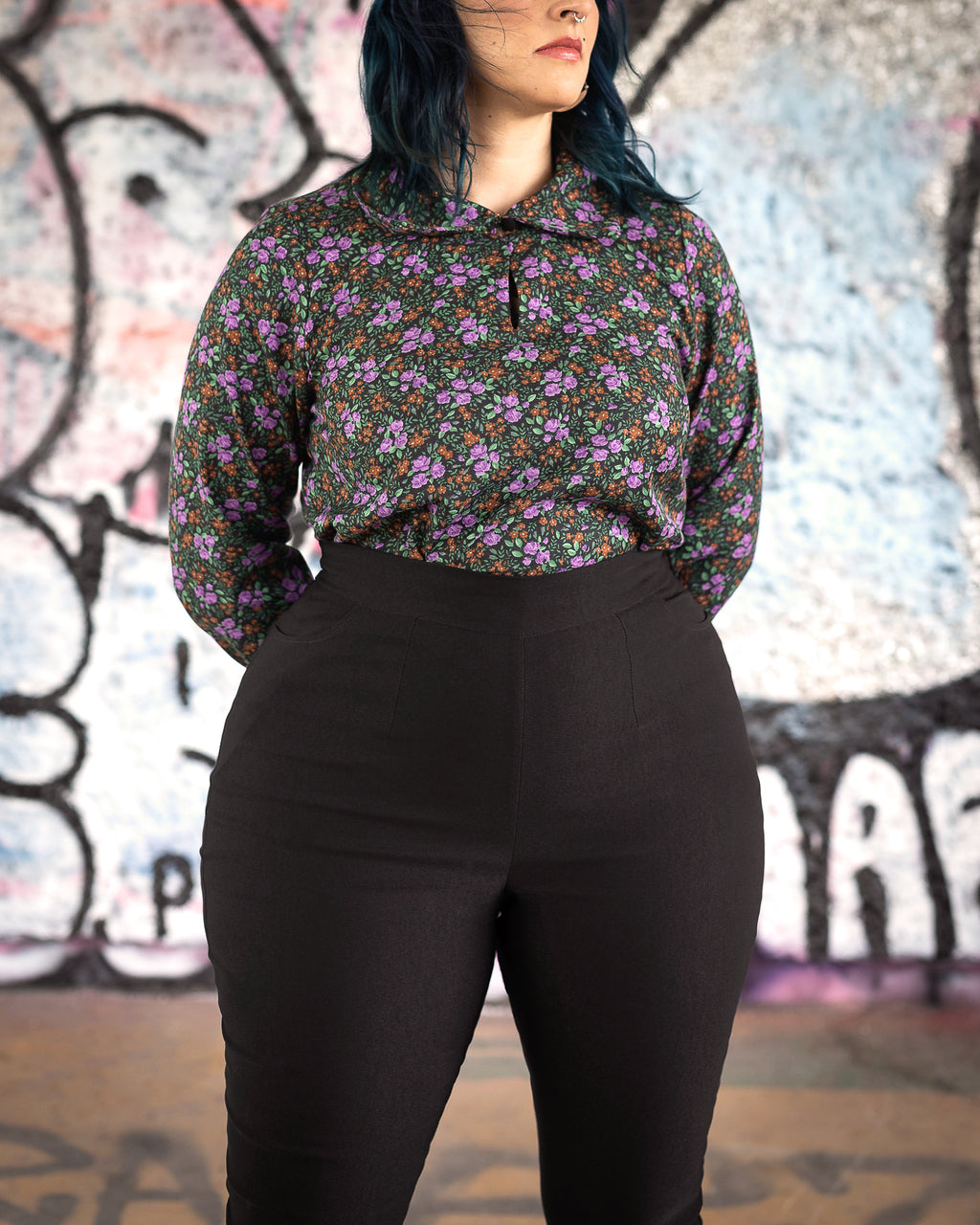 Moon Shadow | Slightly Cropped Blouse | Floral