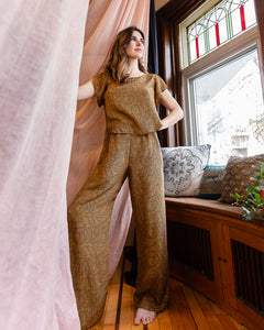 The Greatest | Washable Silk Loungewear Pants | Paisley