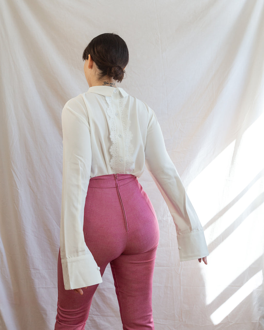Young American | Pantalon droit | Rose