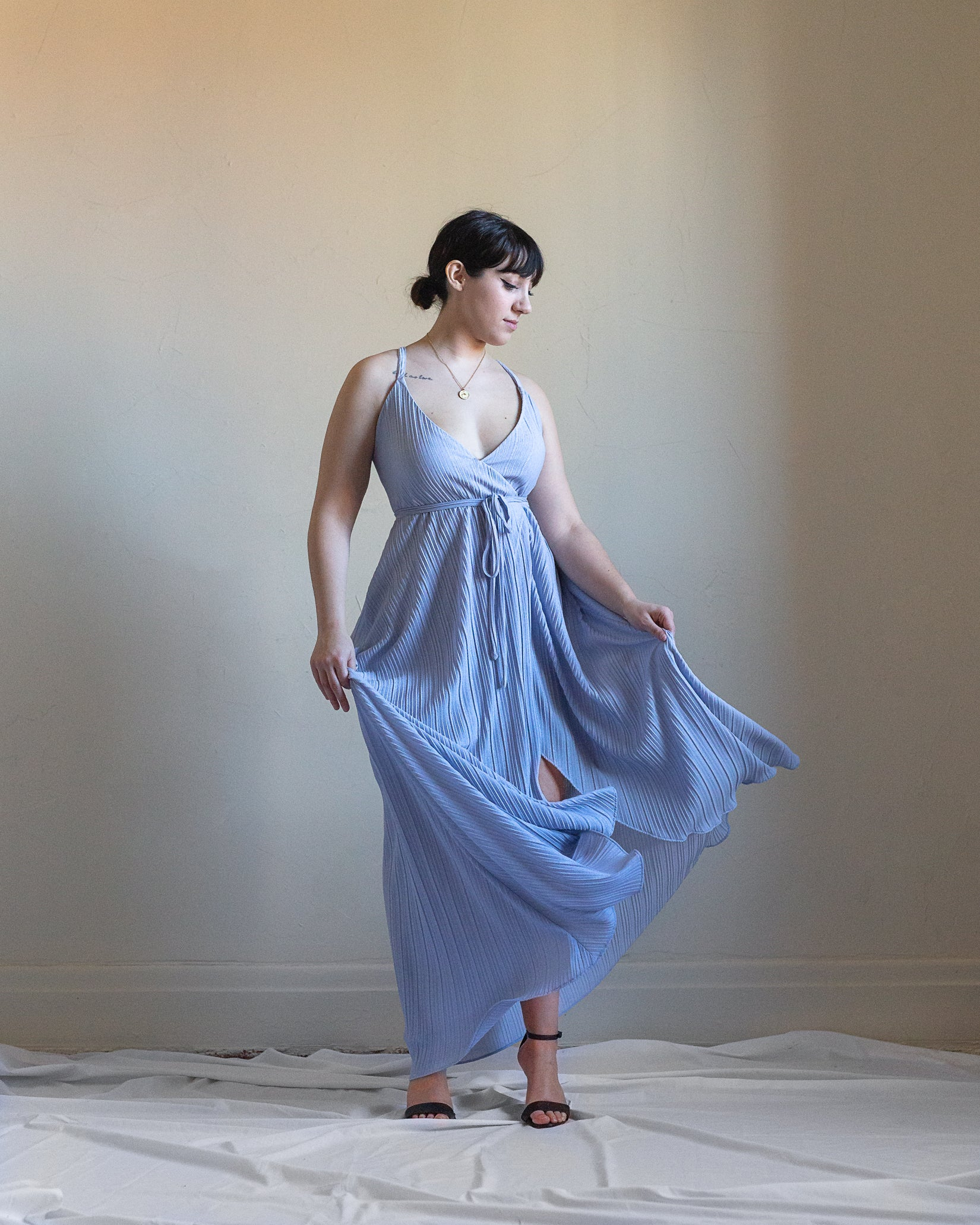 Drama Queen | Pleated Gown | Lavender