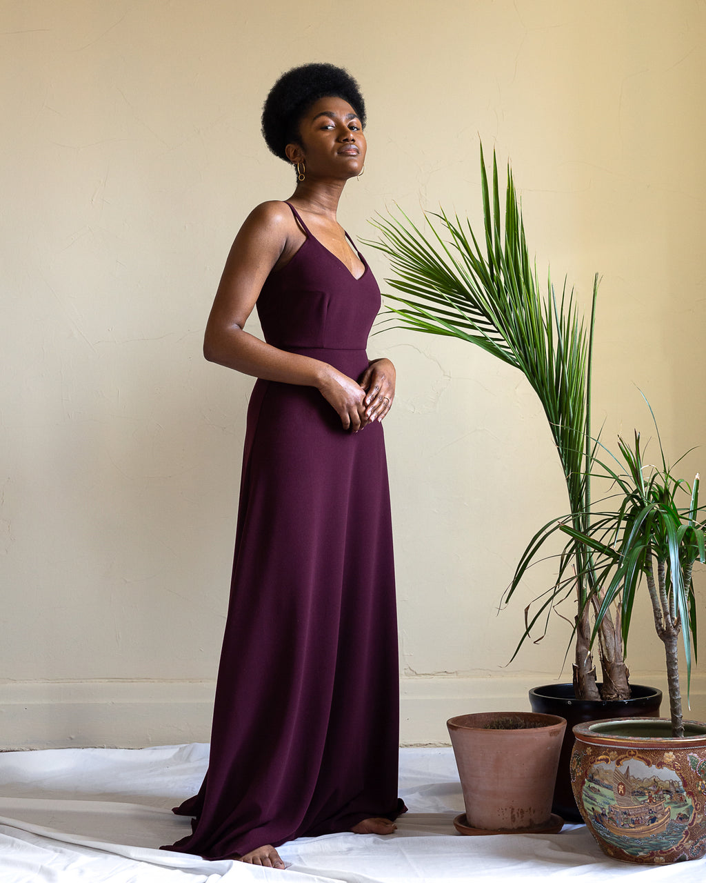 Goodnight Laura | A-Line Gown | Plum
