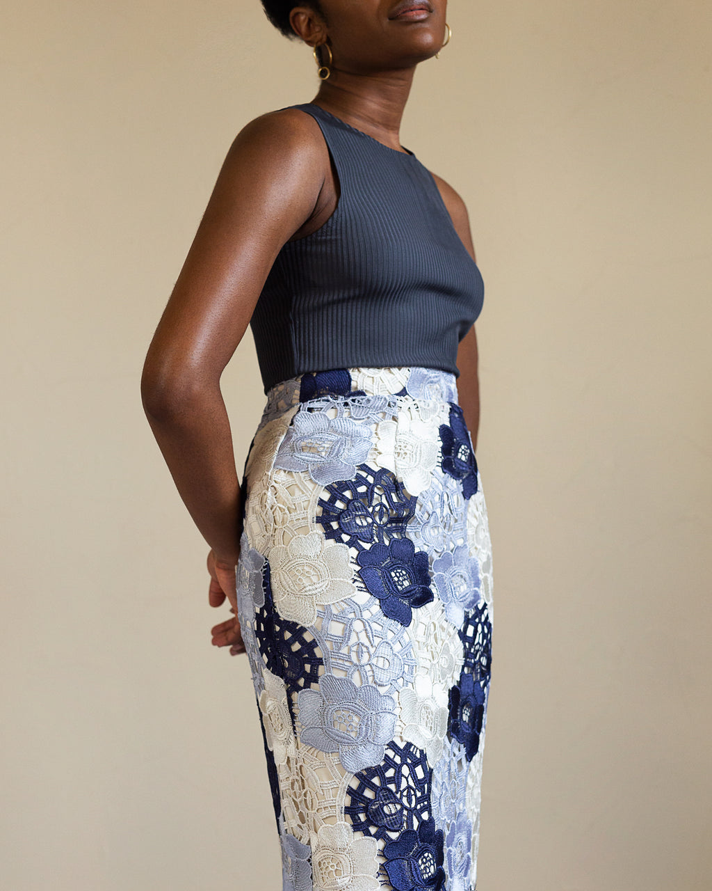 Sweet Caroline | Pencil Skirt | Lace