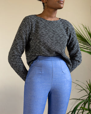 Cecilia | Chenille Cropped Sweater | Rust
