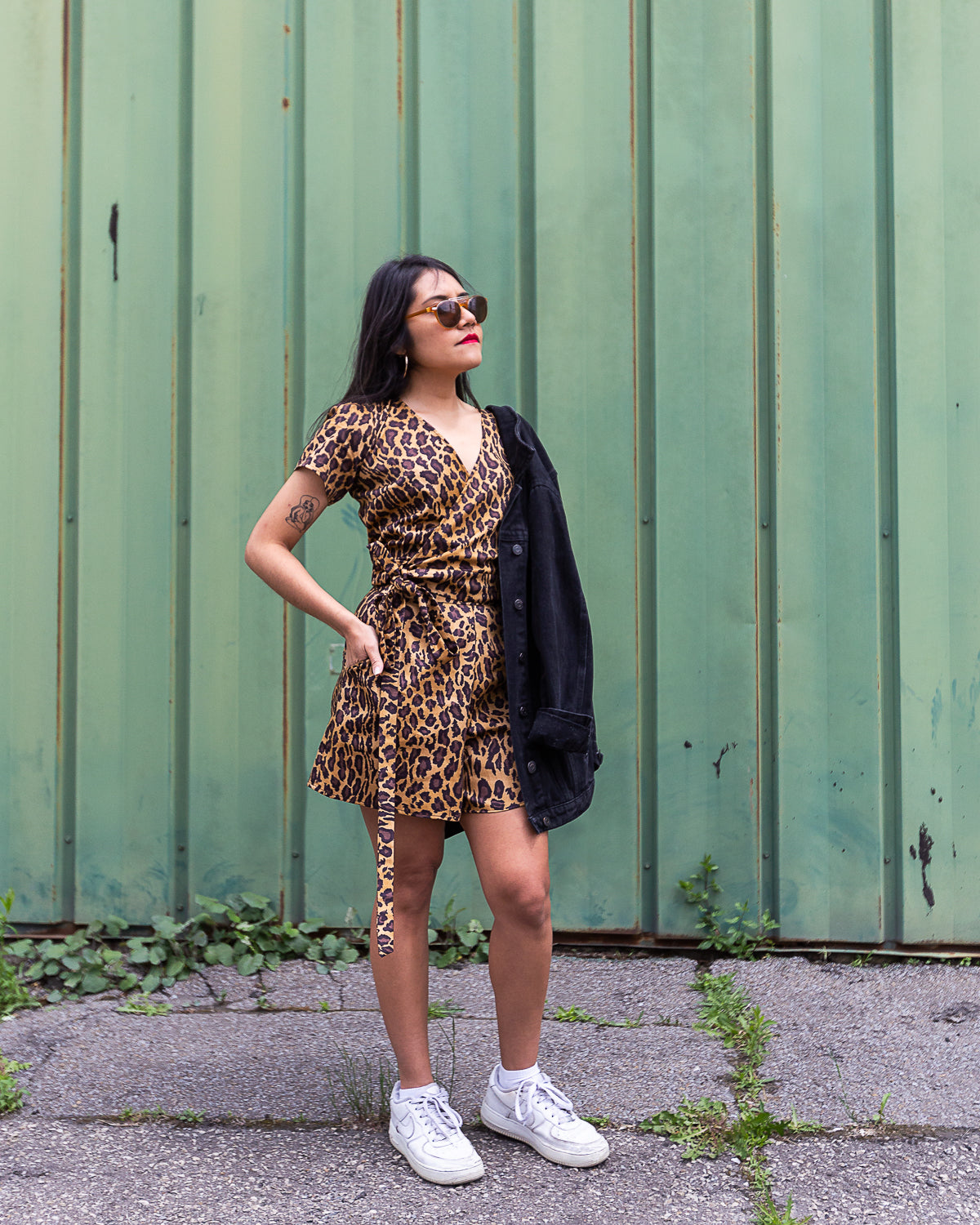 Splash of Light | Wrap Top | Leopard