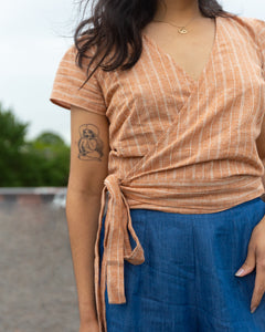 Splash of Light | Wrap Top | Rust