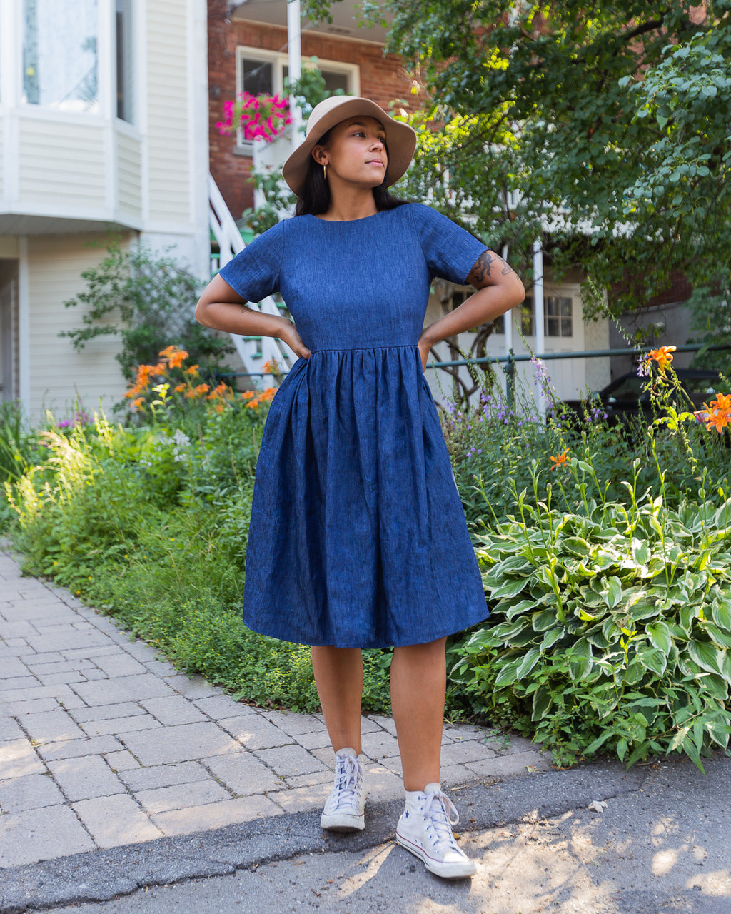 Restless Year | Midi Mumu | Dark Denim