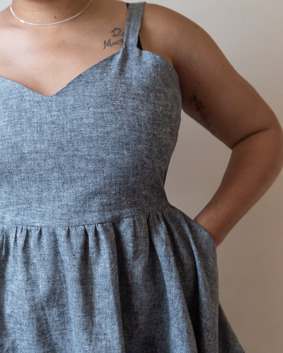 Teen Dream | Midi Babydoll Dress | Grey