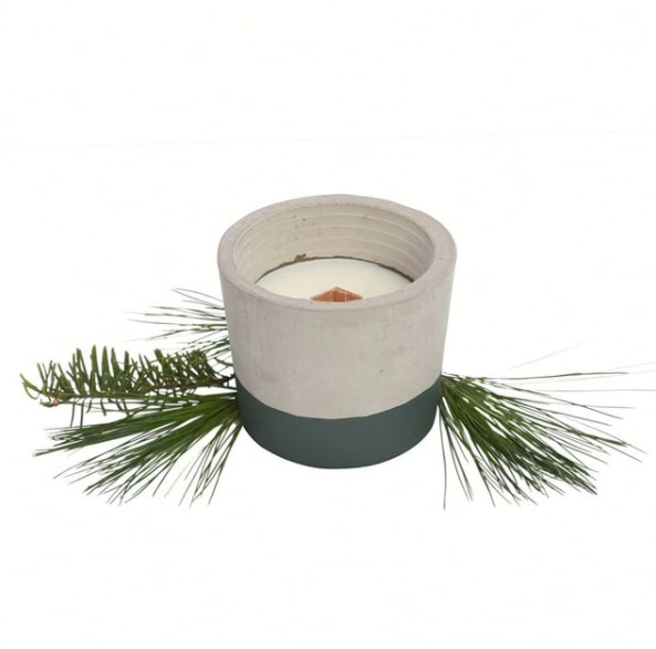 Candle & Cement Holder | Boreal Forest