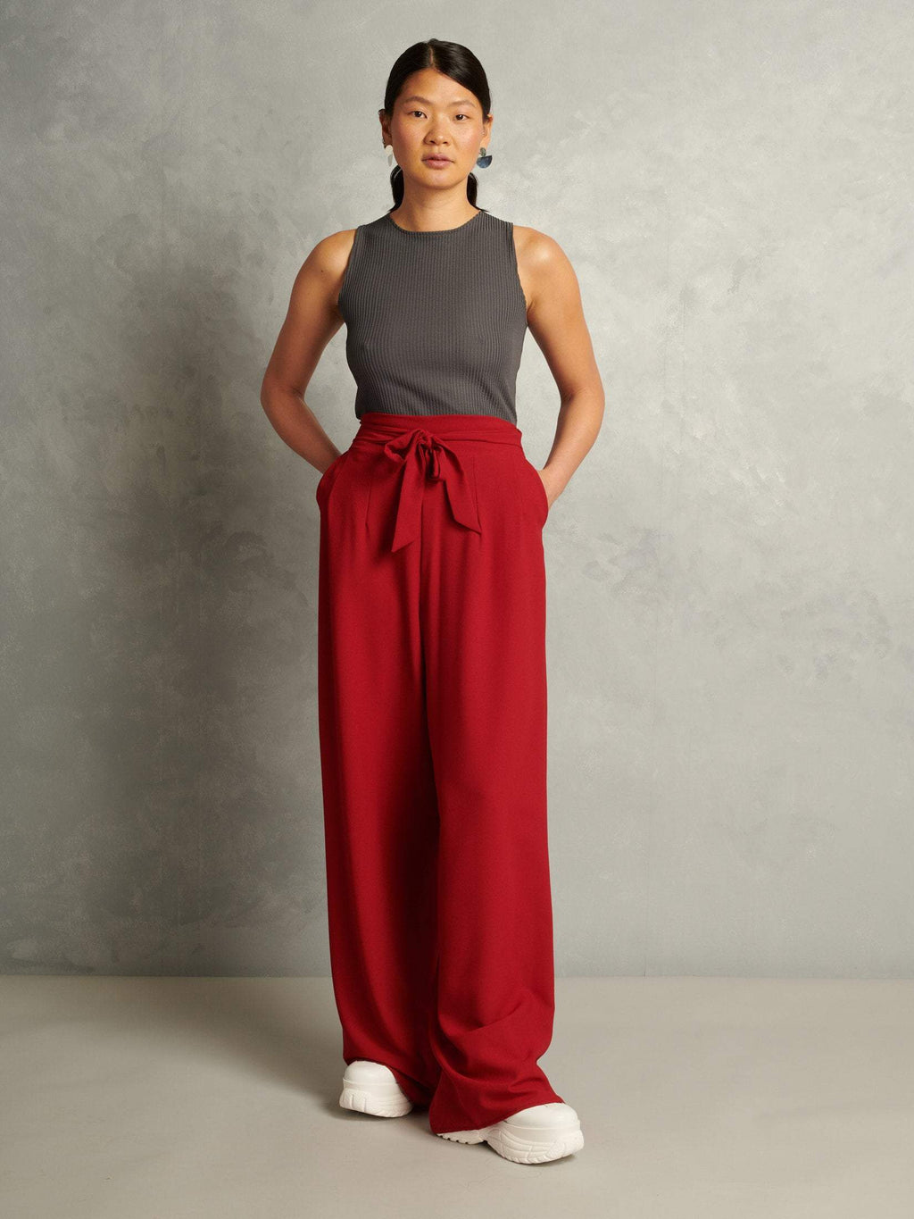 Sunday Driver | Palazzo Pants | Red