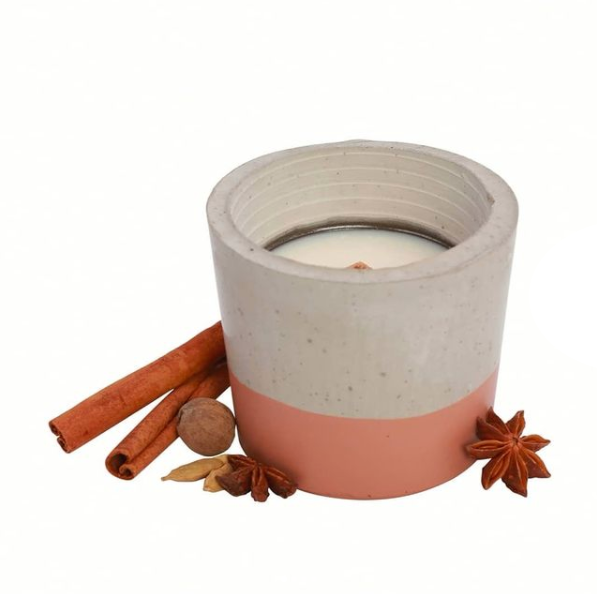 Candle & Cement Holder | Gingerbread