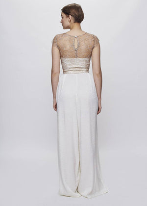 La Quête | French Lace Bridal Top | Nude