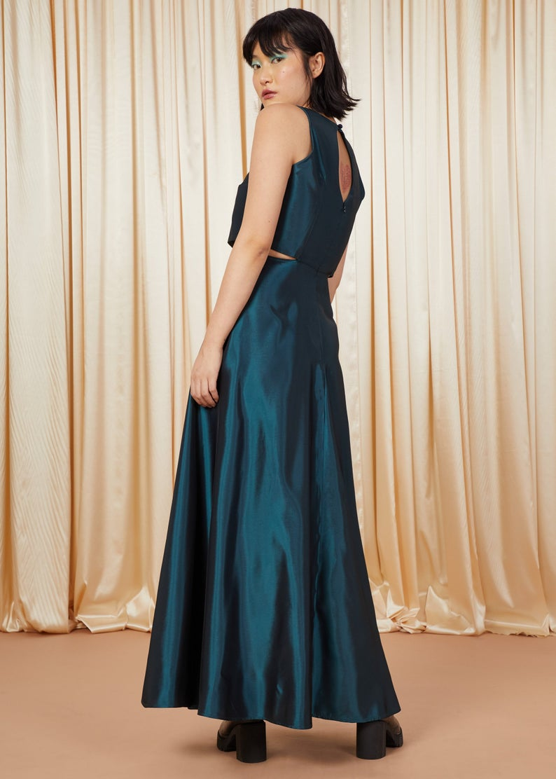 Mermaid | Cut-Out A-Line Gown | Emerald