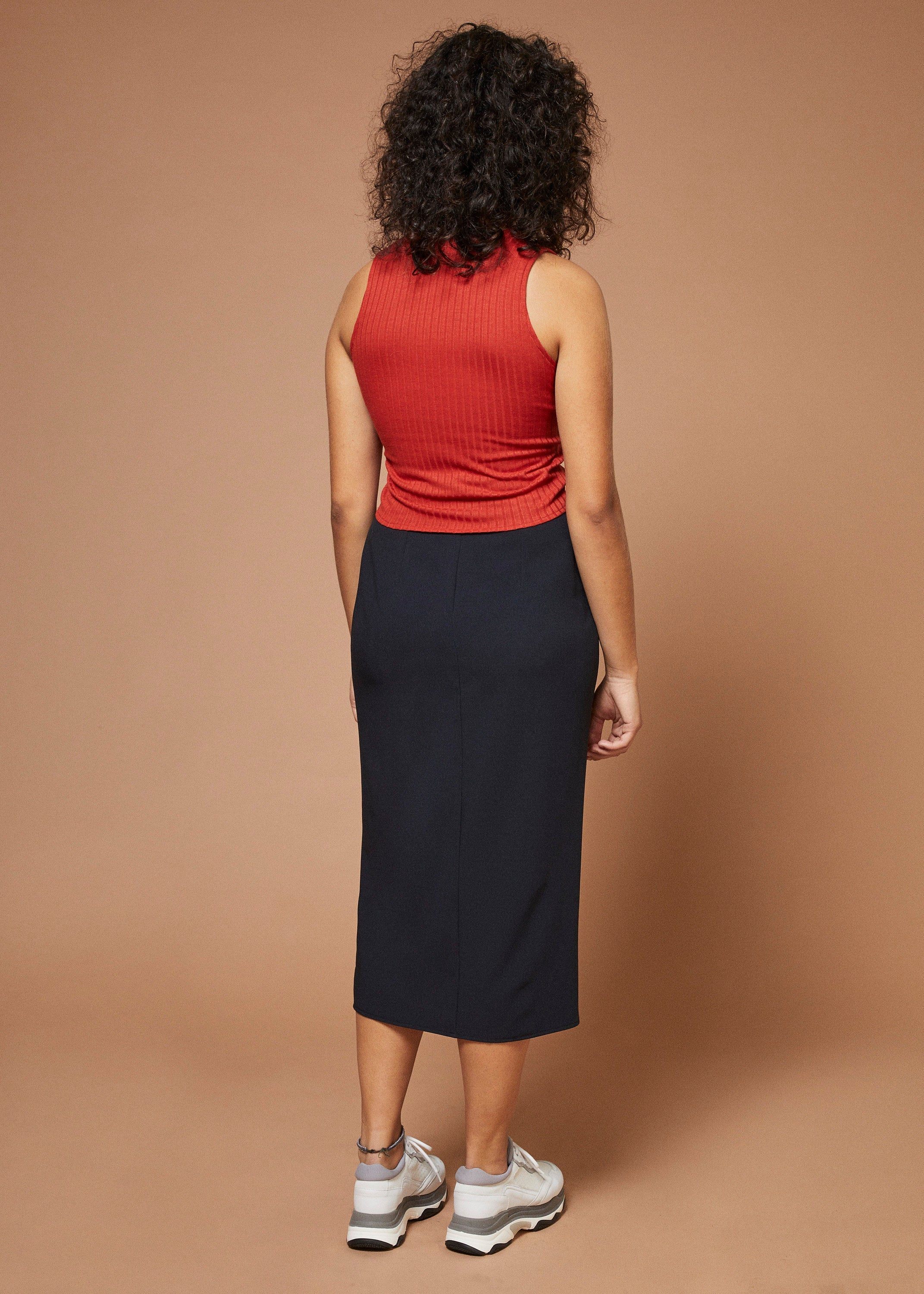 Blackmail | Midi Pencil Skirt | Navy