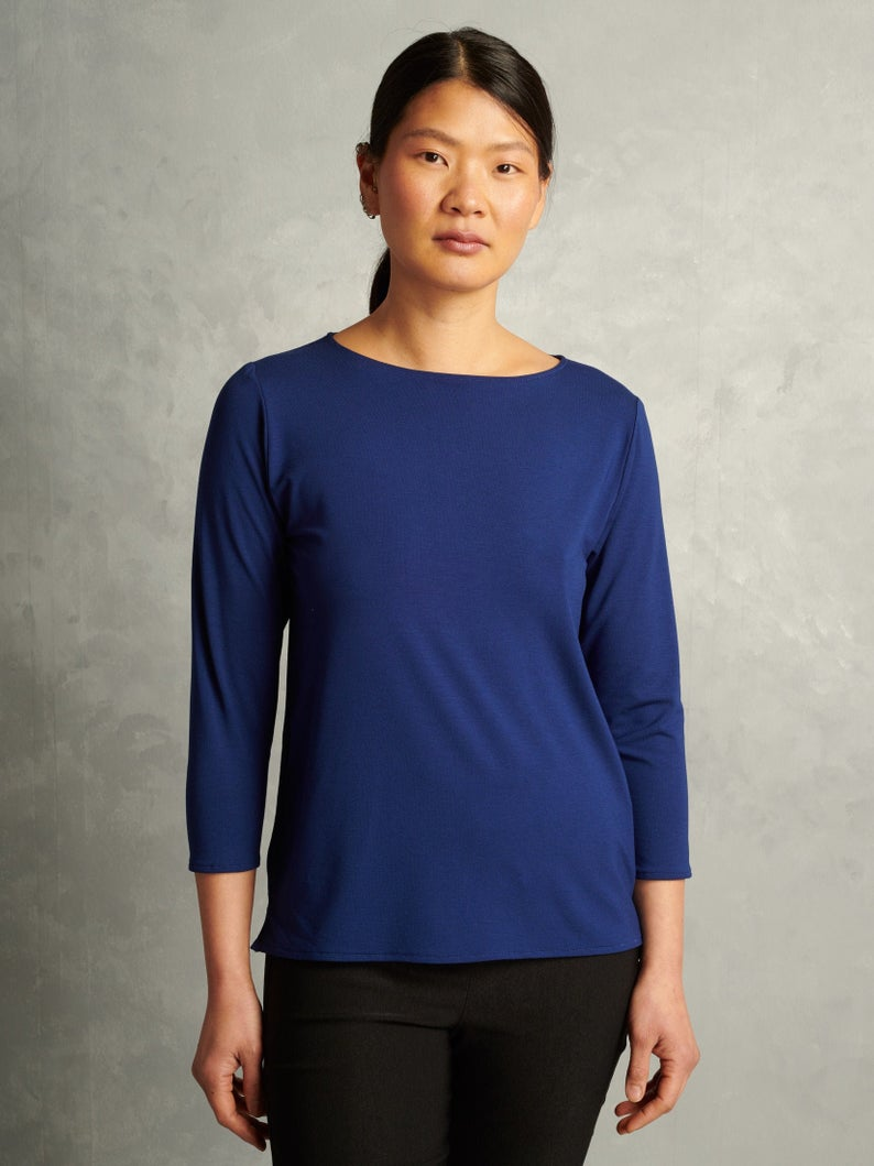Lola | Boatneck T-Shirt | Blue