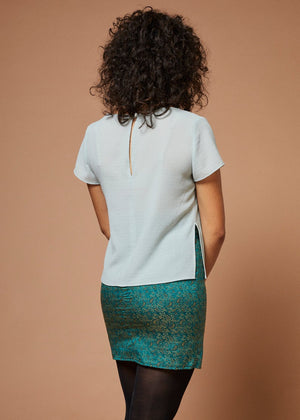 Forgotten Favorite | Fitted Mini Skirt | Teal
