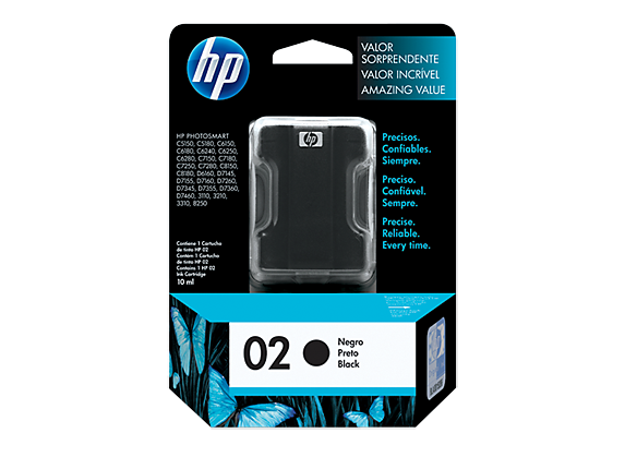 Original HP 02 Black Inkjet Cartridge (C8721WC/C8721WN, HP02)