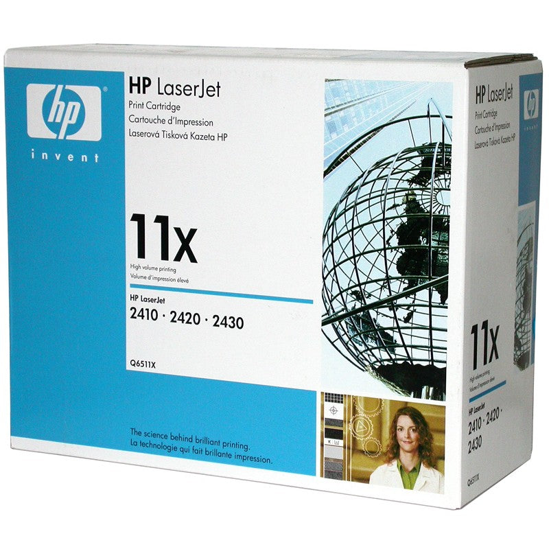 HP 11X Q6511X Original Black Laser Toner Cartridge