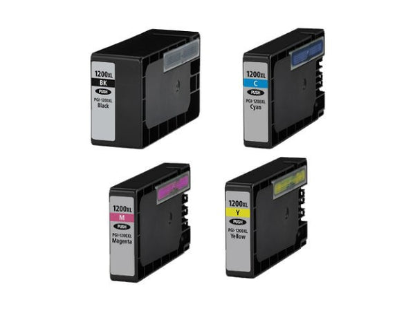 Generic Canon 1200xl Combo Pack Ink Cartridge - All 4 Colors