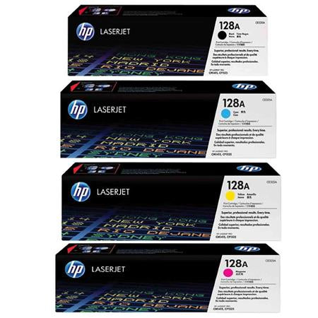 Original HP 128A Combo Toner Cartridges (CE320A,321,322,323  Black,Cyan,Magenta,Yellow)