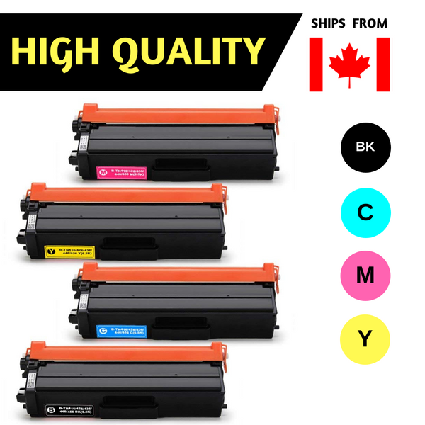Best Compatible Toner for Brother TN436 Toner - (High Yield of TN433) BK/C/M/Y, For HL-L8360CDW, HL-L8360CDWT, HL-L9310CDW, MFC-L8900CDW, MFC-L9570CDW