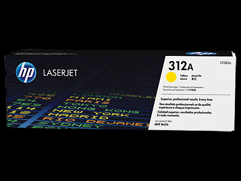 Original HP CF382A New Yellow  Toner Cartridge (312A)